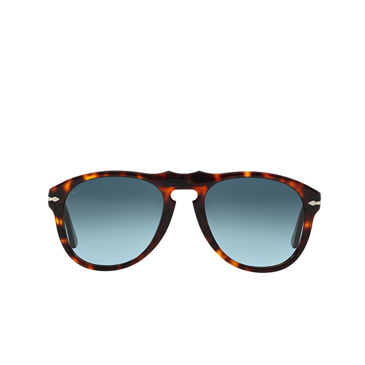 Persol® Aviator Sunglasses: PO0649 color Havana 24/86 - front view.