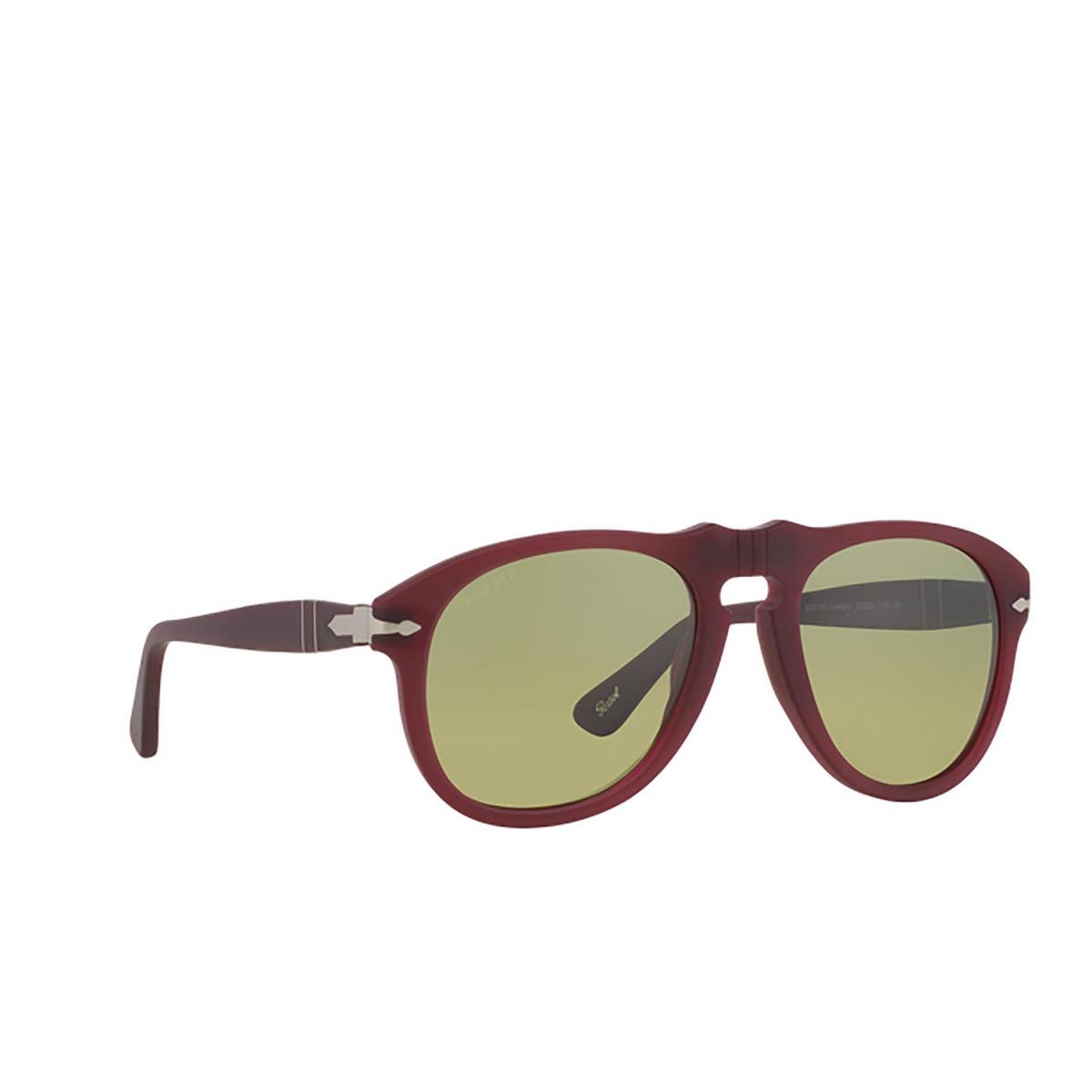 Persol® Aviator Sunglasses: PO0649 color Granato 902183 - three-quarters view.