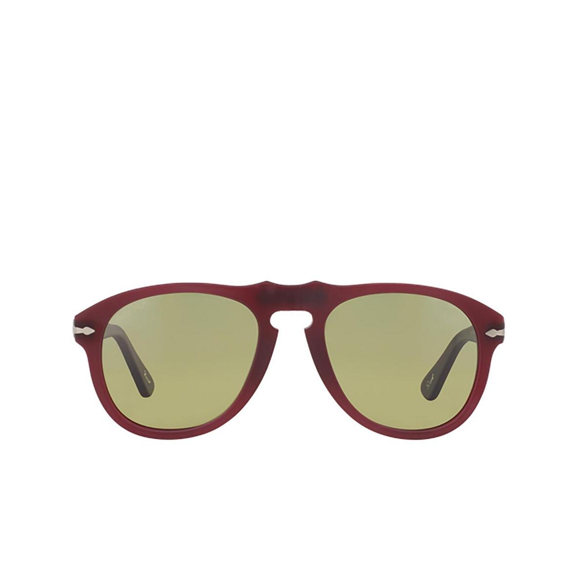 Persol® Aviator Sunglasses: PO0649 color Granato 902183 - front view.