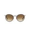 Persol® Round Sunglasses: PO2422SJ color Matte Brown 992/51 - product thumbnail 1/3.