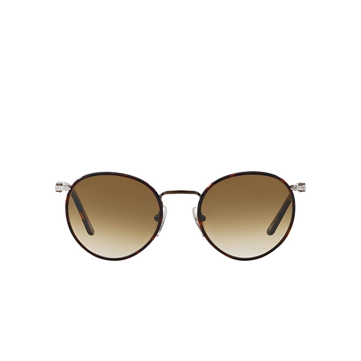Persol® Round Sunglasses: PO2422SJ color Matte Brown 992/51 - 1/3.