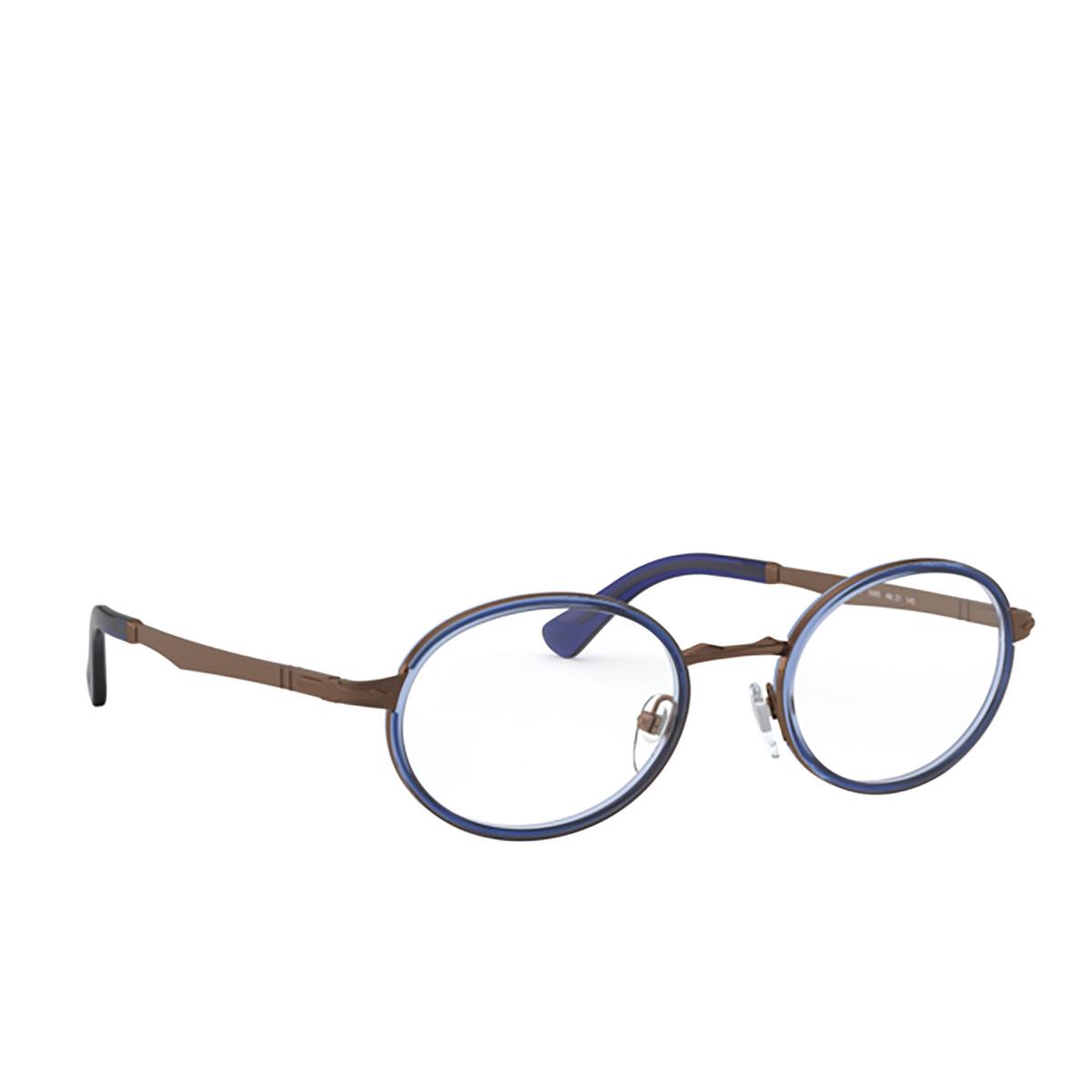Persol® Oval Eyeglasses: PO2452V color Brown & Blue 1095 - three-quarters view.