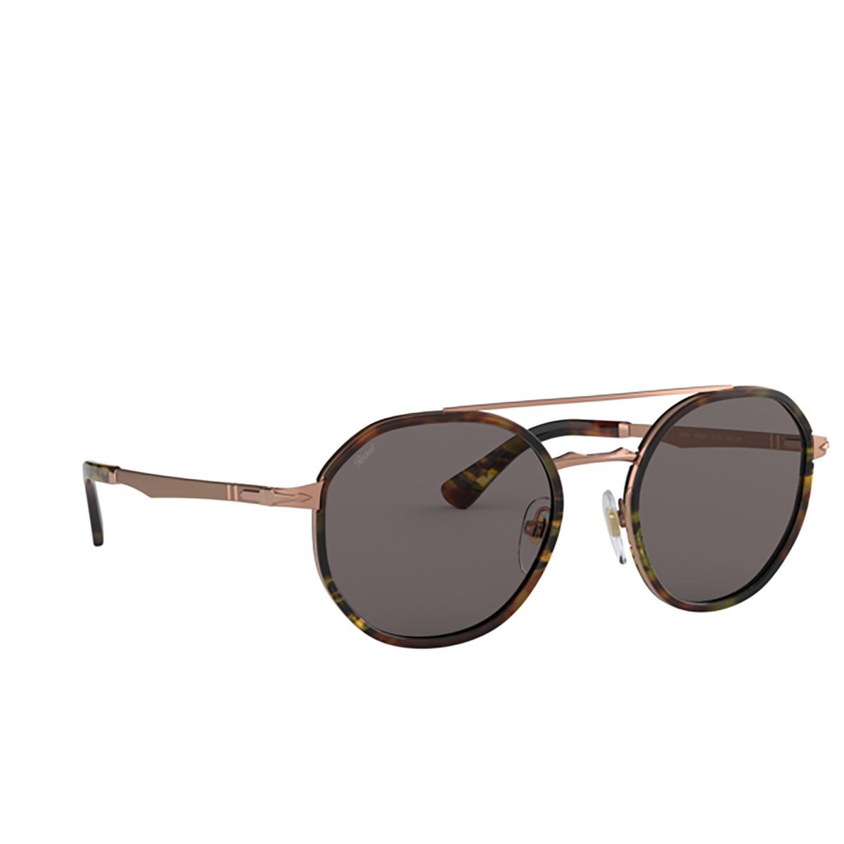 Persol® Aviator Sunglasses: PO2456S color Copper 1080R5 - three-quarters view.