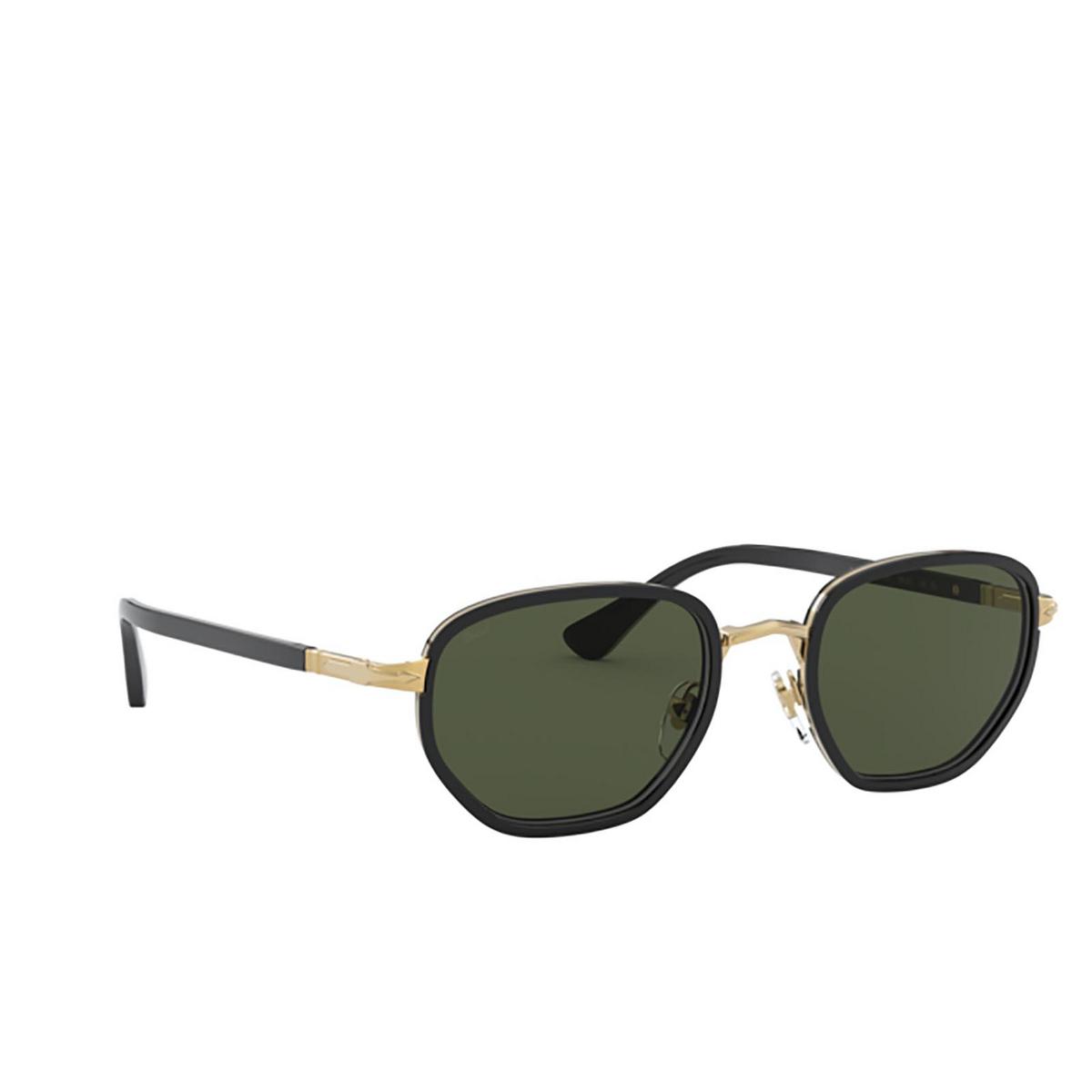 Persol® Irregular Sunglasses: PO2471S color Gold & Black 109731 - three-quarters view.