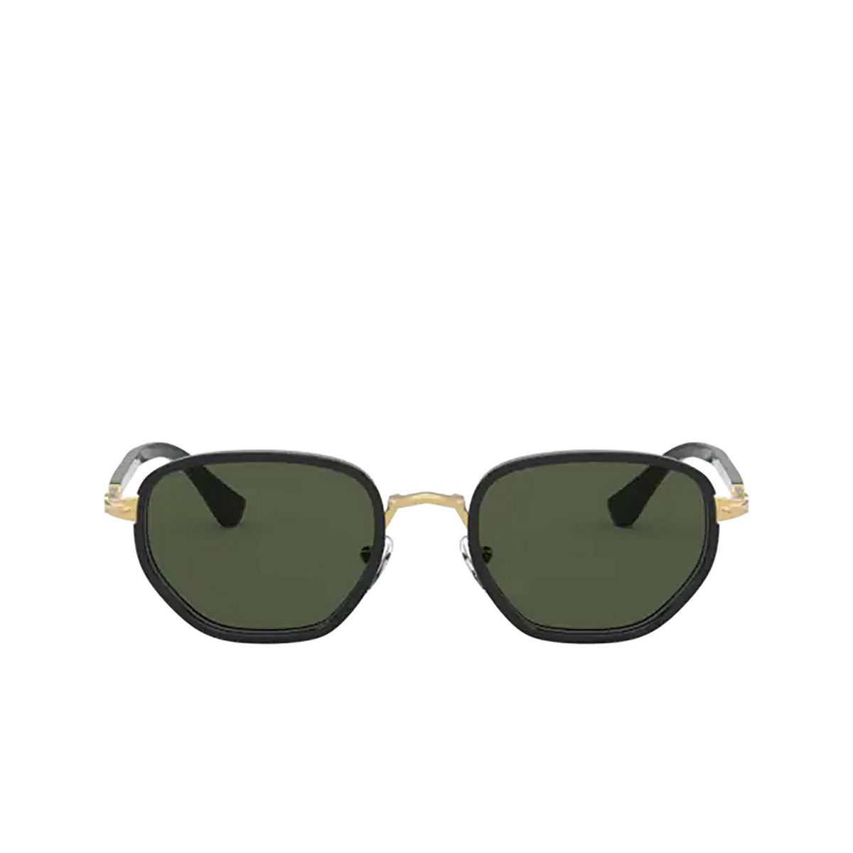 Persol® Irregular Sunglasses: PO2471S color Gold & Black 109731 - front view.