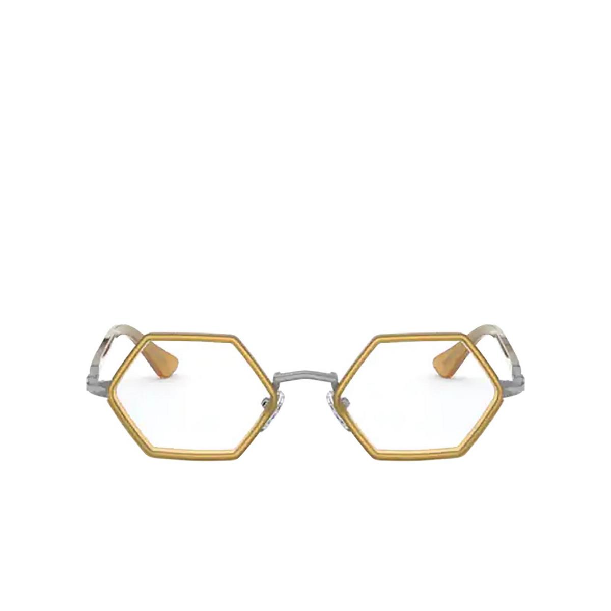 Persol® Irregular Eyeglasses: PO2472V color Gunmetal & Honey 1093 - front view.
