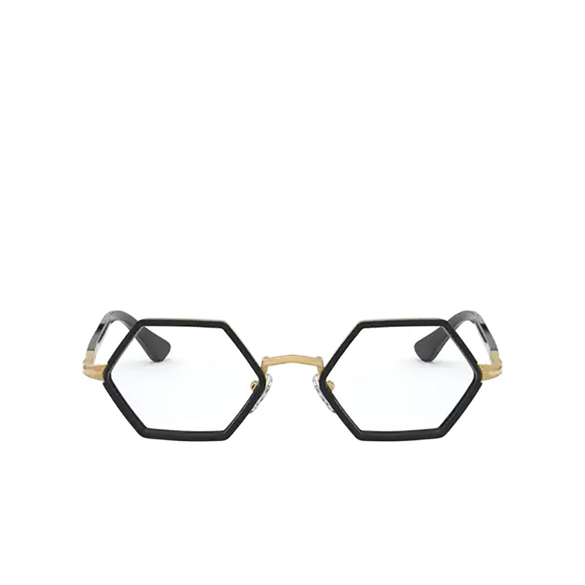 Persol® Irregular Eyeglasses: PO2472V color Gold & Black 1097 - front view.