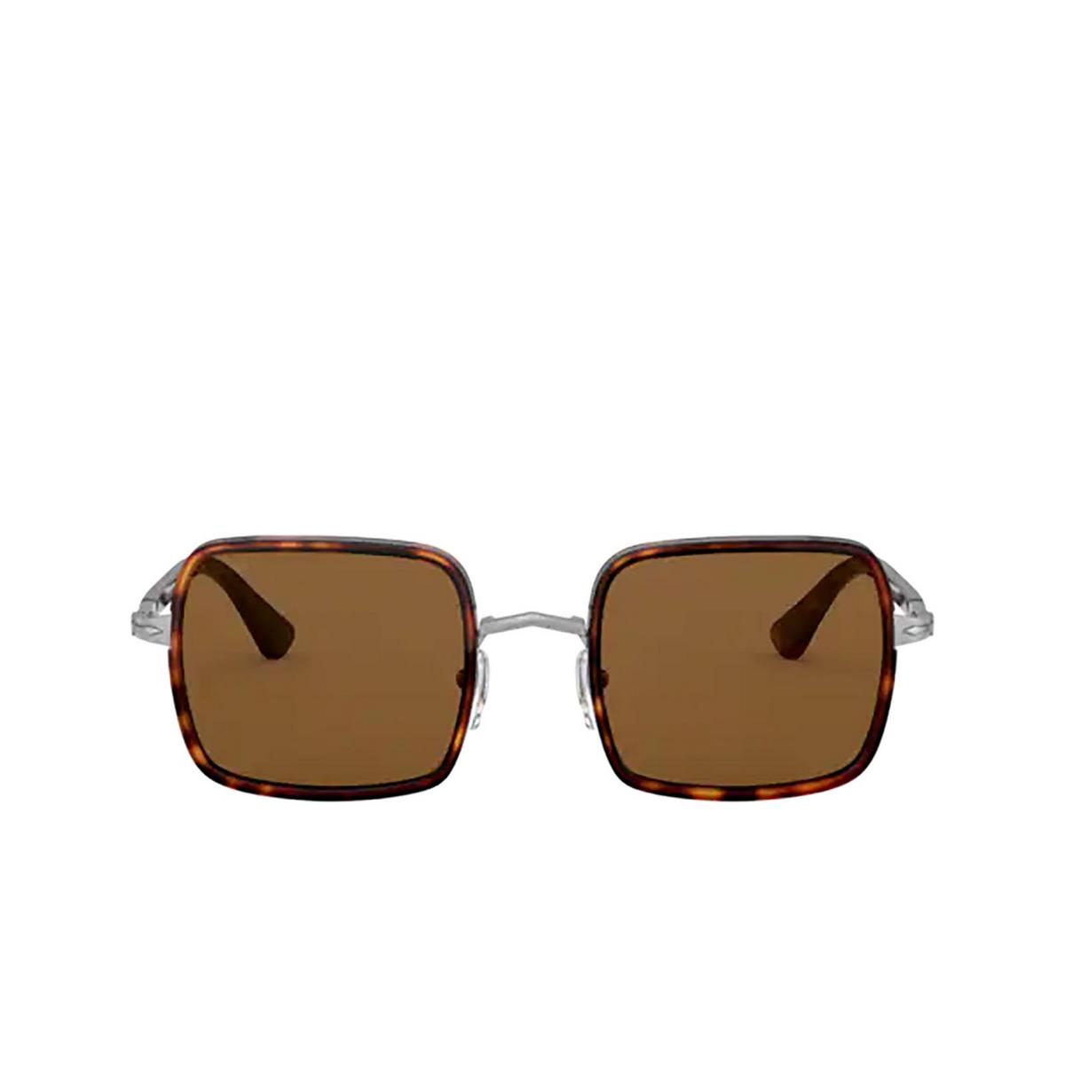 Persol® Square Sunglasses: PO2475S color Gunmetal & Havana 513/33 - front view.