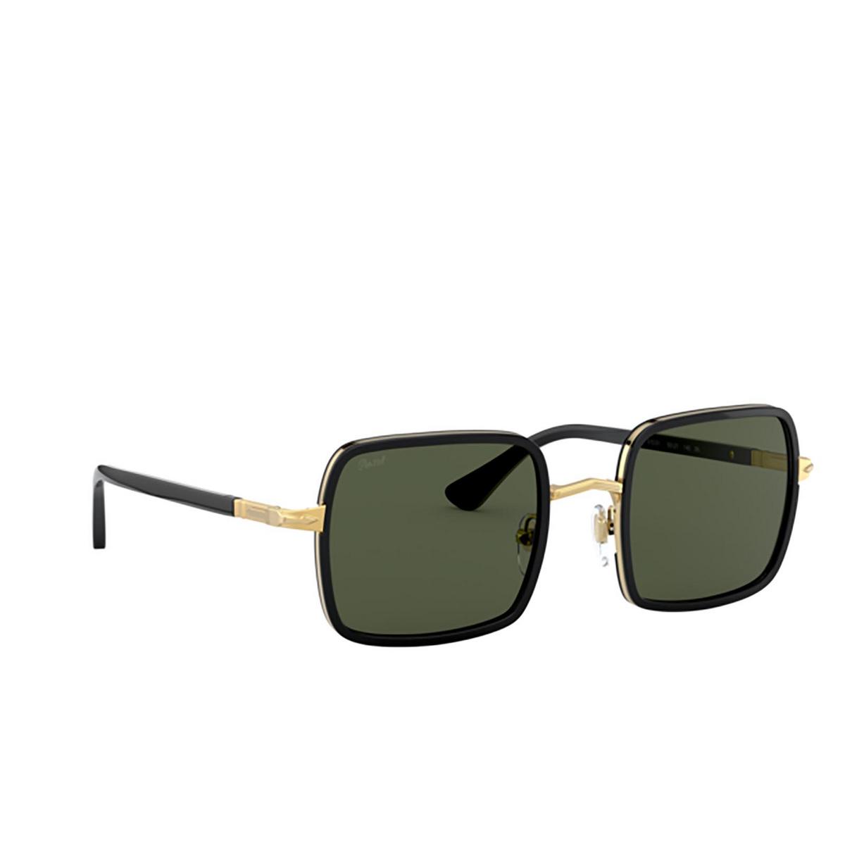 Persol® Square Sunglasses: PO2475S color Gold & Black 515/31 - three-quarters view.