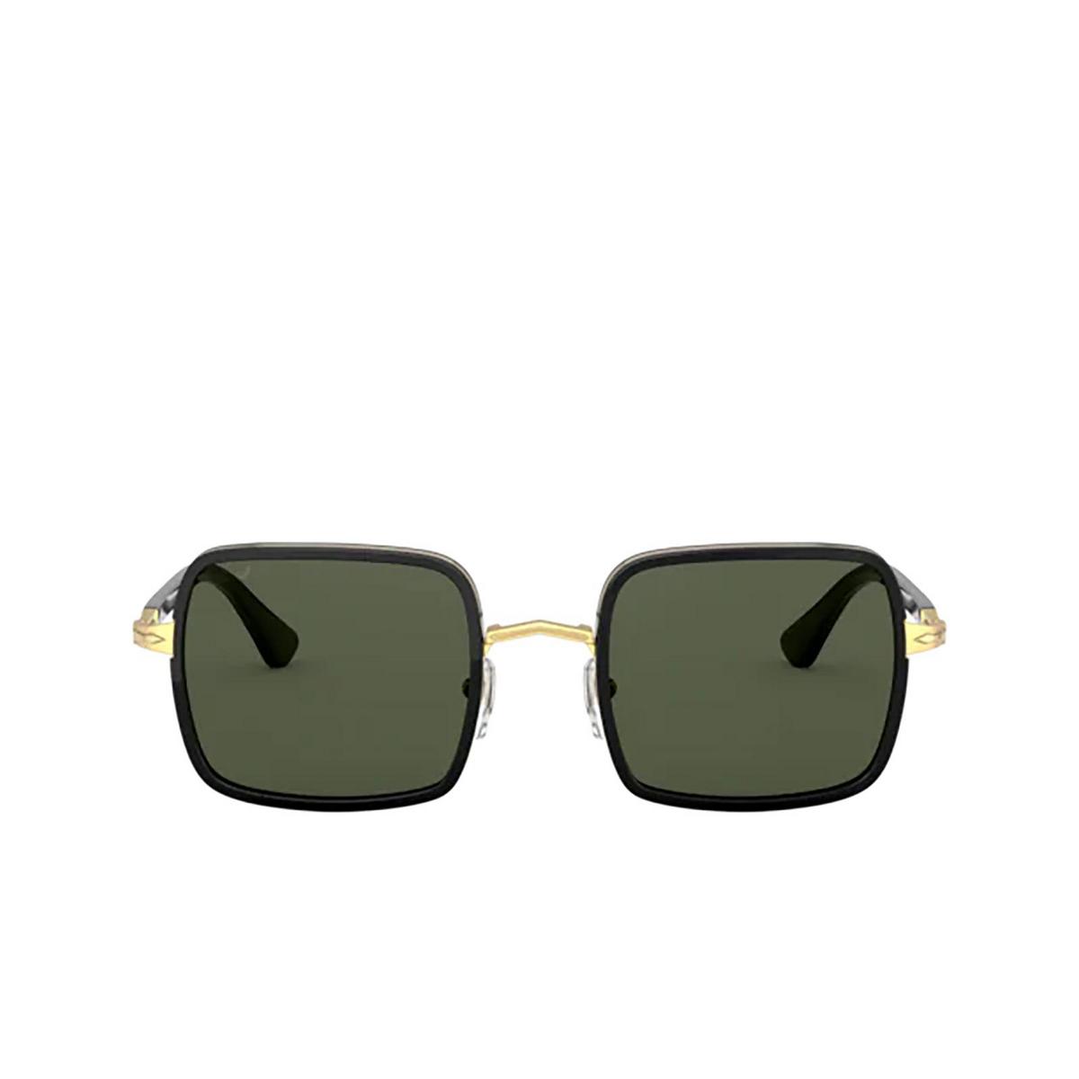Persol® Square Sunglasses: PO2475S color Gold & Black 515/31 - front view.