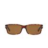 Persol® Rectangle Sunglasses: PO2803S color Havana 24/57 - product thumbnail 1/3.