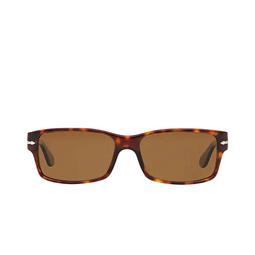Persol® Rectangle Sunglasses: PO2803S color Havana 24/57.