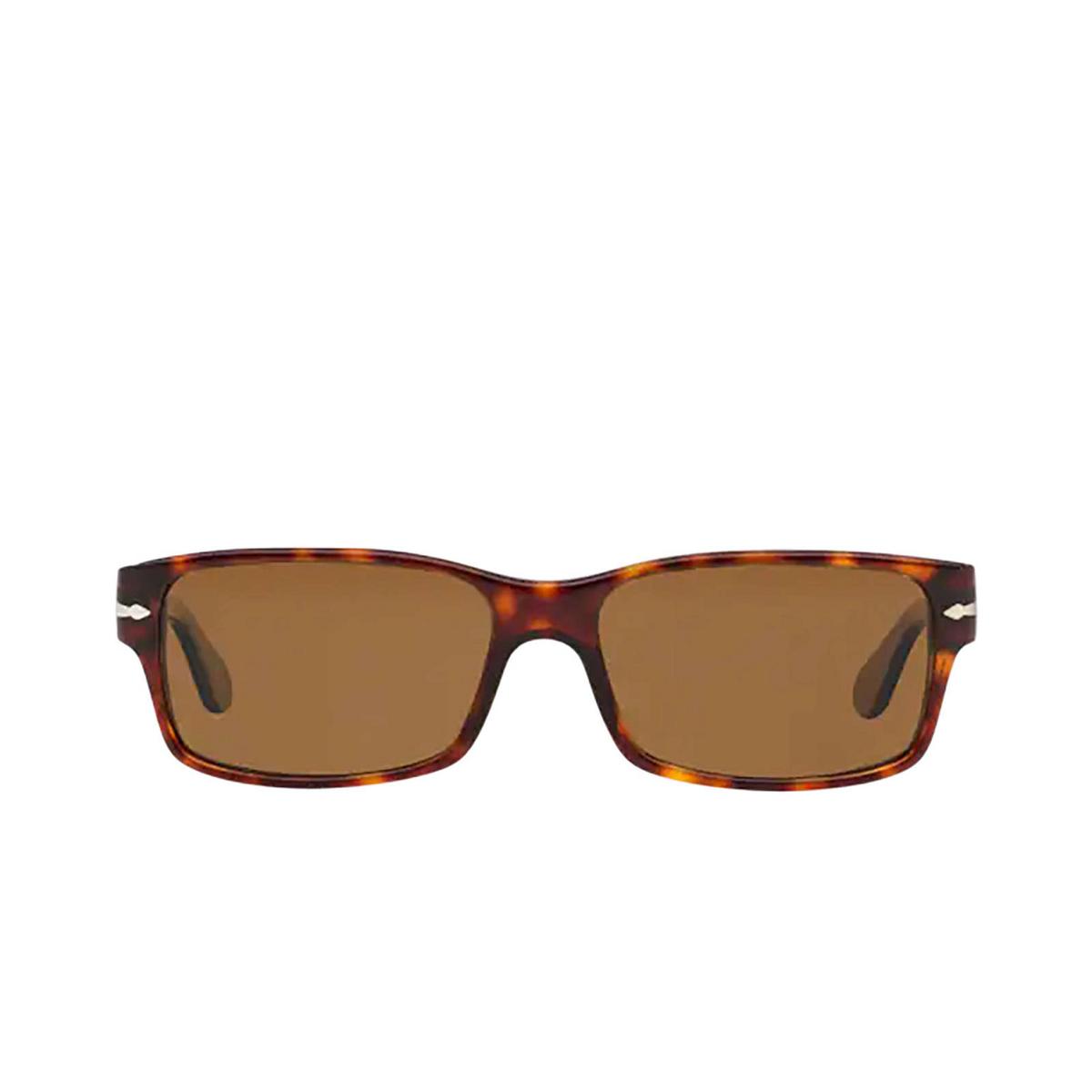 Persol® Rectangle Sunglasses: PO2803S color Havana 24/57 - front view.