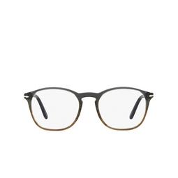 Persol® Eyeglasses: PO3007V color Gradient Grey & Striped Brown 1012.