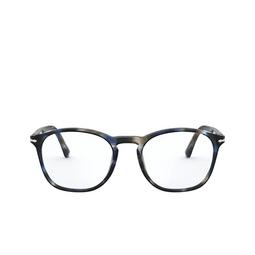 Persol® Eyeglasses: PO3007VM color Striped Blue & Grey 1126.