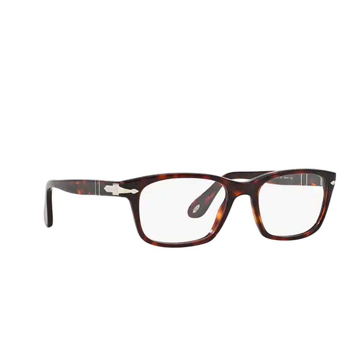 Persol® Square Eyeglasses: PO3012V color Havana 24.