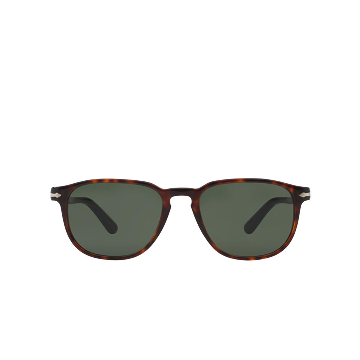 Persol® Square Sunglasses: PO3019S color Havana 24/31 - front view.