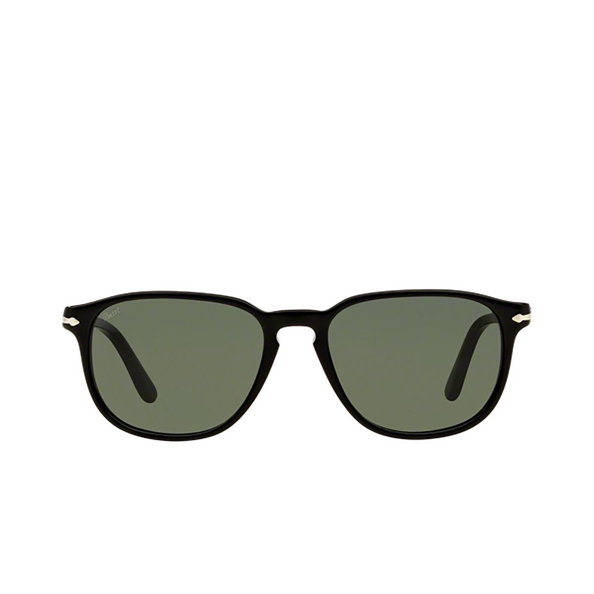 Persol® Square Sunglasses: PO3019S color Black 95/31 - front view.