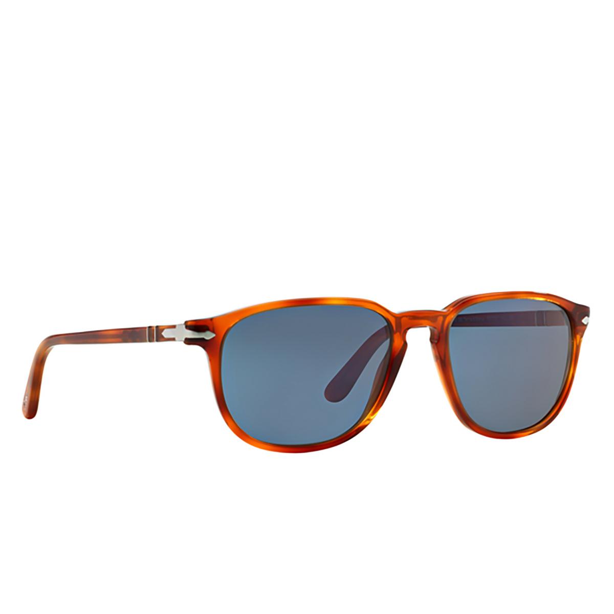 Persol® Square Sunglasses: PO3019S color Terra Di Siena 96/56 - three-quarters view.