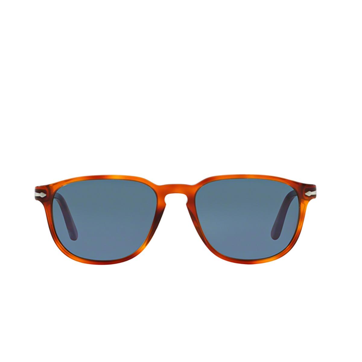 Persol® Square Sunglasses: PO3019S color Terra Di Siena 96/56 - front view.