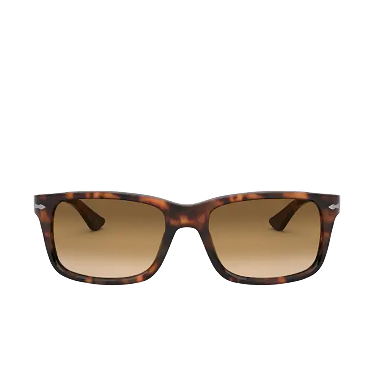 Persol® Rectangle Sunglasses: PO3048S color Coffee 108/51 - front view.