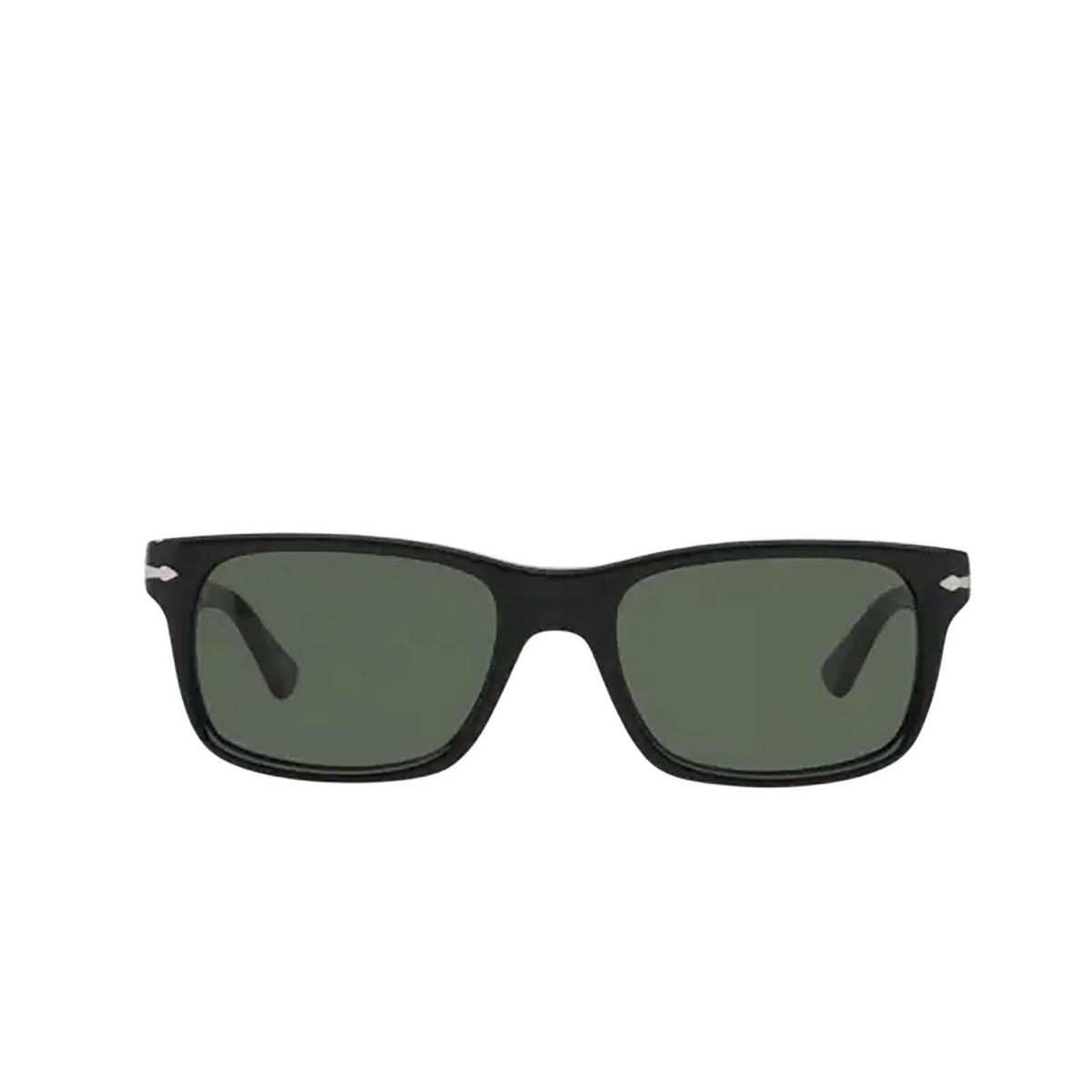 Persol® Rectangle Sunglasses: PO3048S color Black 95/31 - front view.