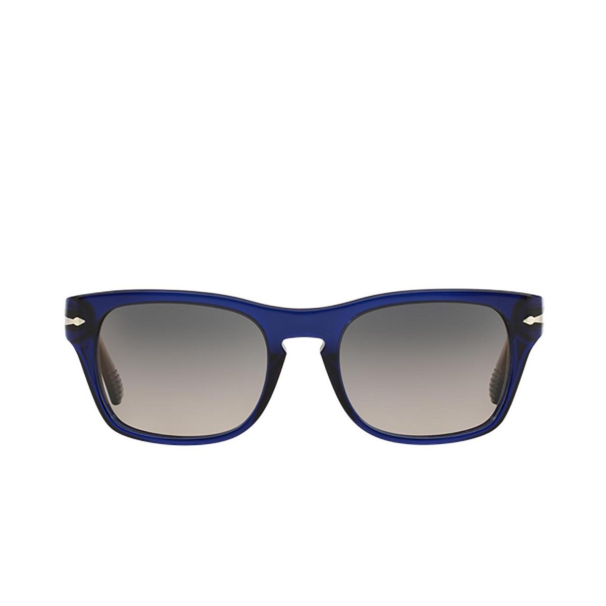 Persol® Square Sunglasses: PO3072S color Blue 181/M3 - 1/3.