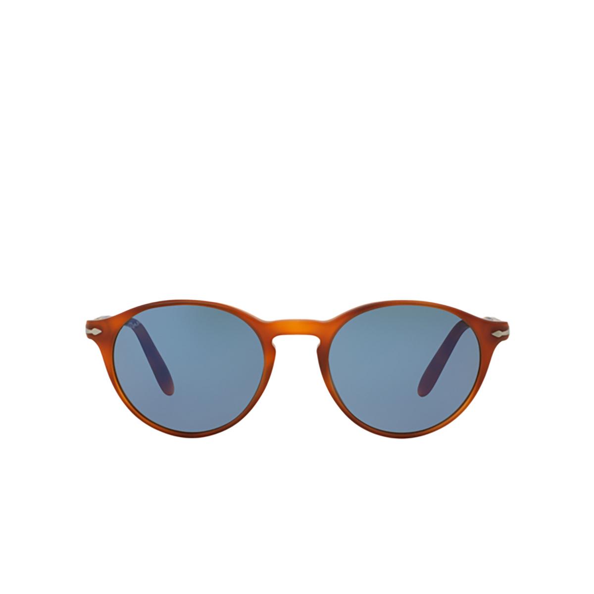 Persol® Round Sunglasses: PO3092SM color Terra Di Siena 900656 - front view.