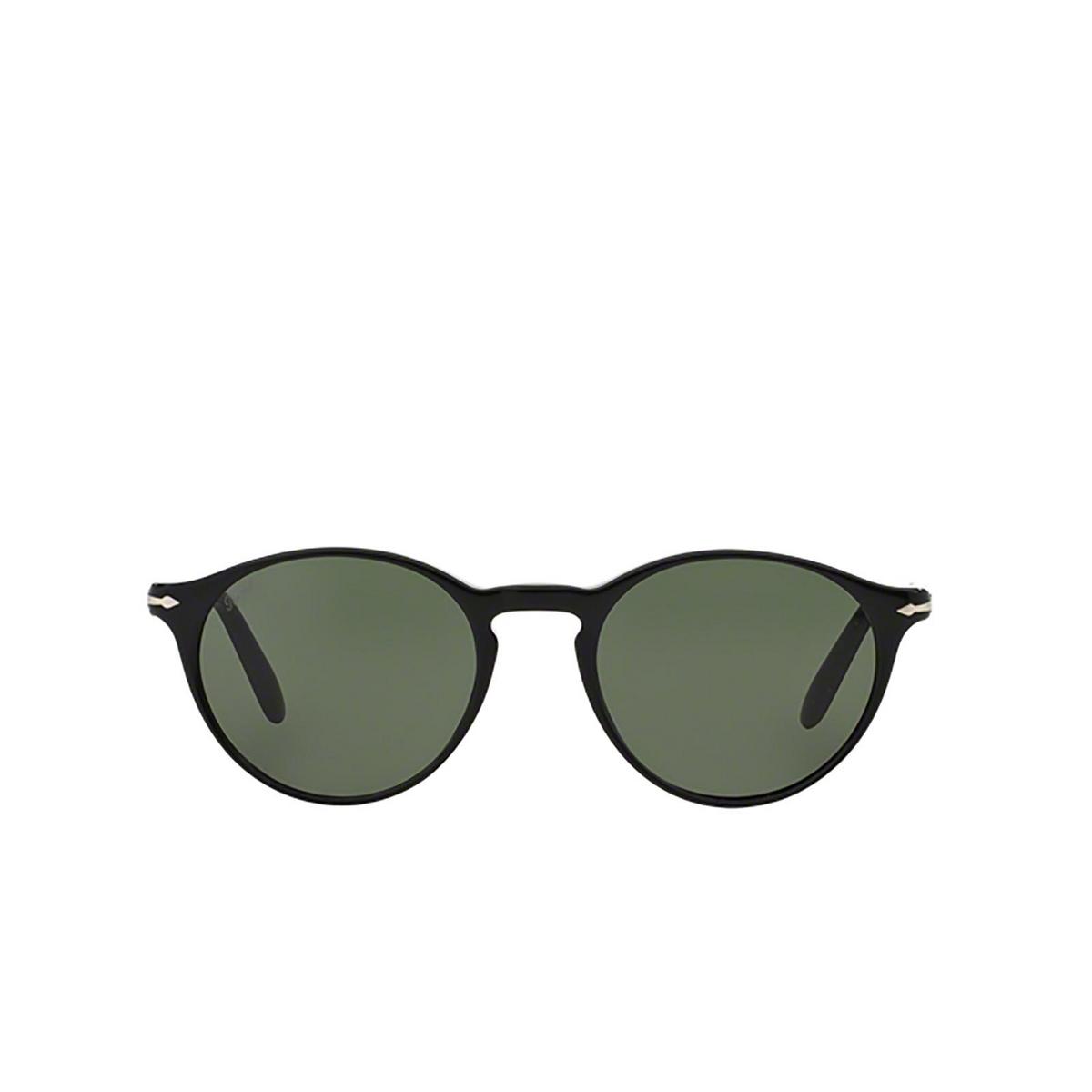 Persol® Round Sunglasses: PO3092SM color Black 901431.
