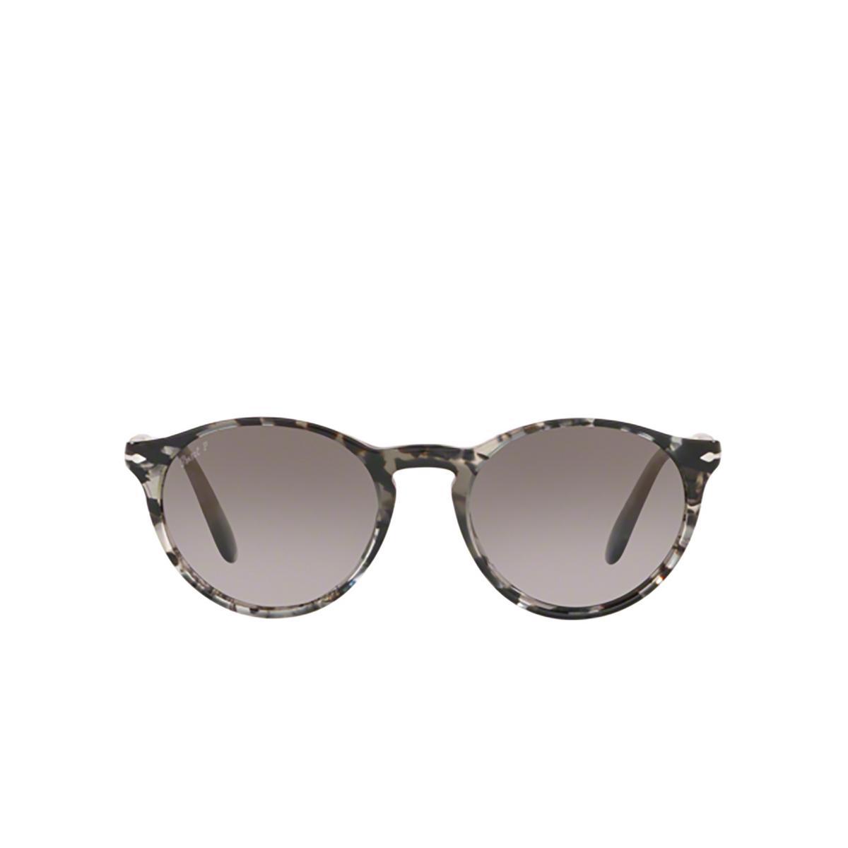 Persol® Round Sunglasses: PO3092SM color Grey Tortoise 9057M3 - front view.