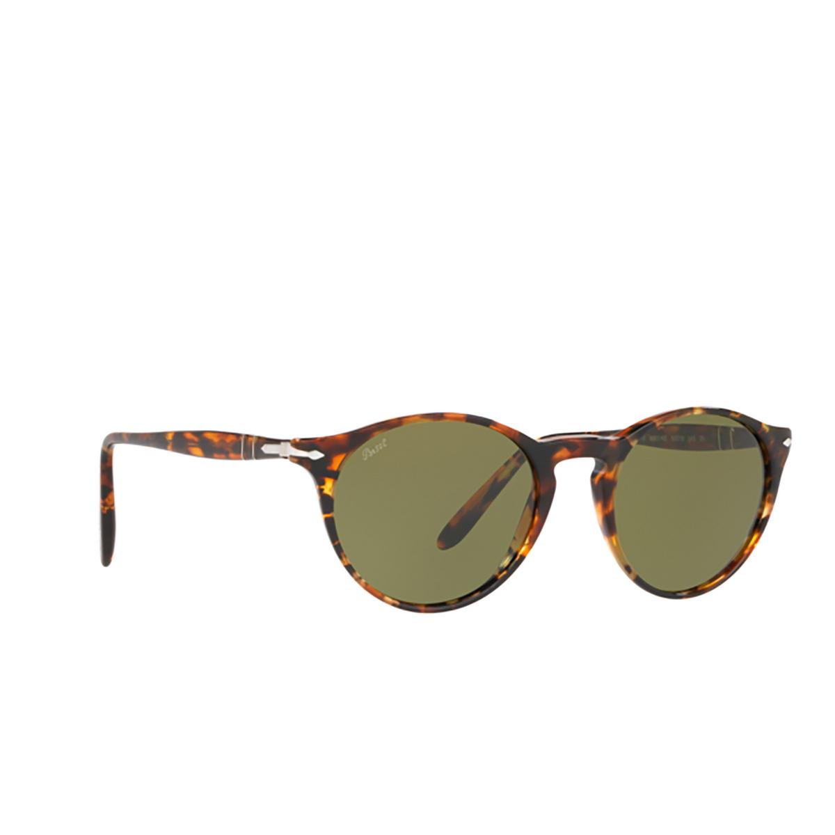 Persol® Round Sunglasses: PO3092SM color Dark Brown Tortoise 90604E.