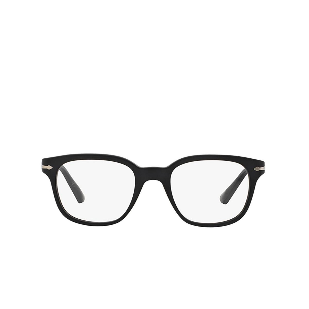 Persol® Square Eyeglasses: PO3093V color Black 9000 - front view.