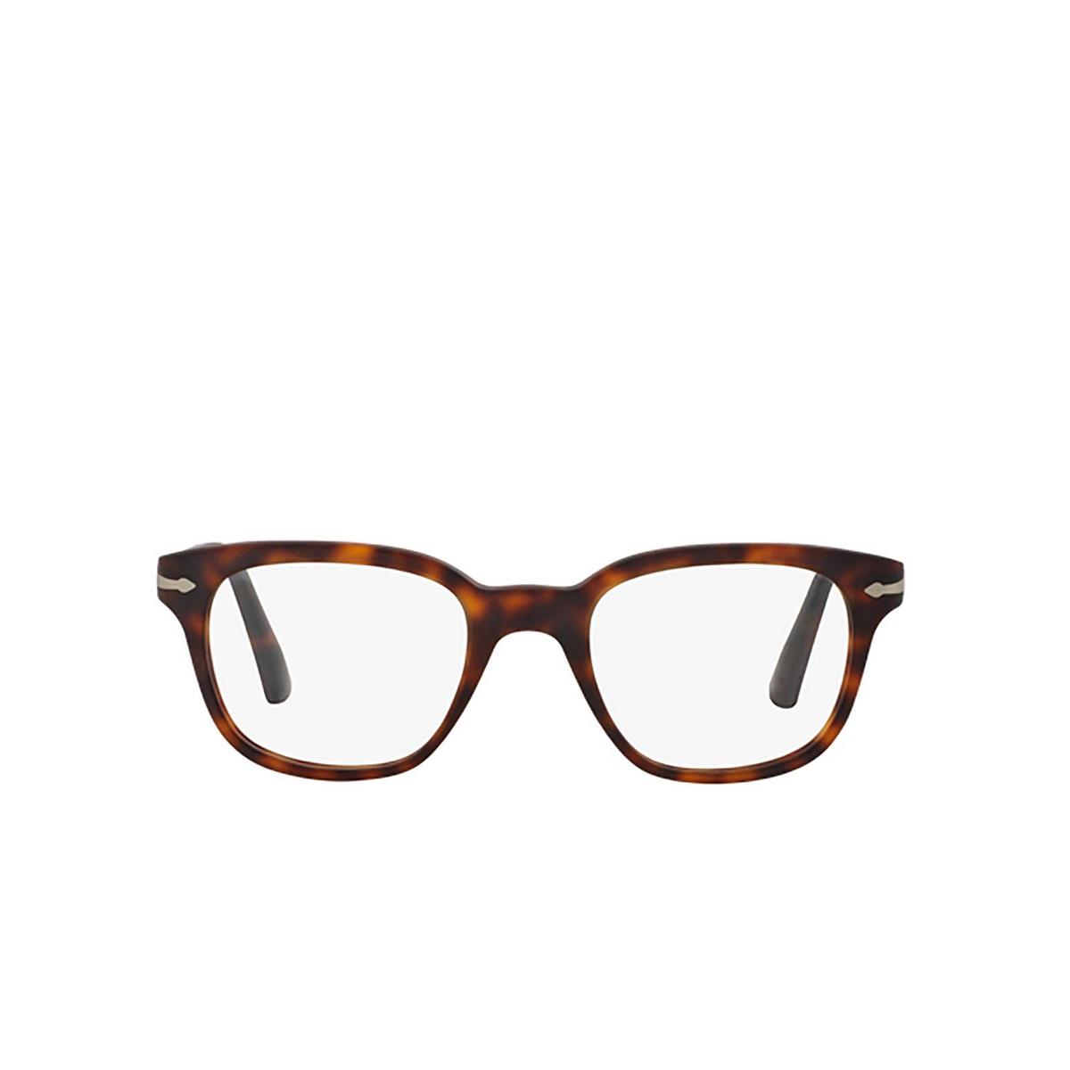 Persol® Square Eyeglasses: PO3093V color Havana 9001 - front view.