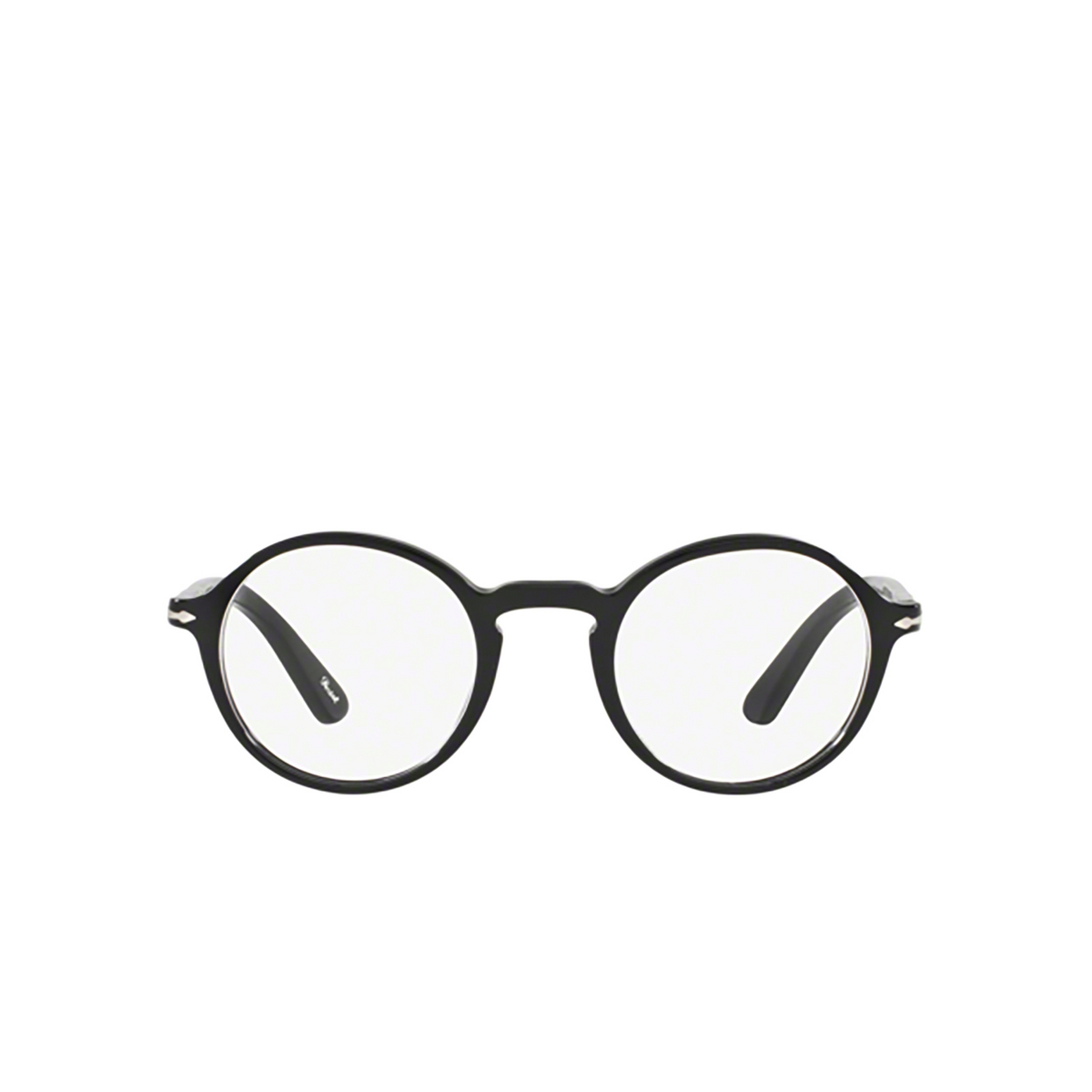 Persol® Round Eyeglasses: PO3141V color Black 95 - front view.