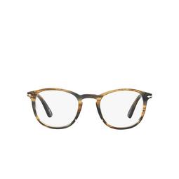 Persol® Eyeglasses: PO3143V color Striped Brown Grey 1049.