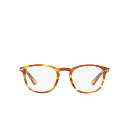Persol® Eyeglasses: PO3143V color Striped Brown Yellow 1050.
