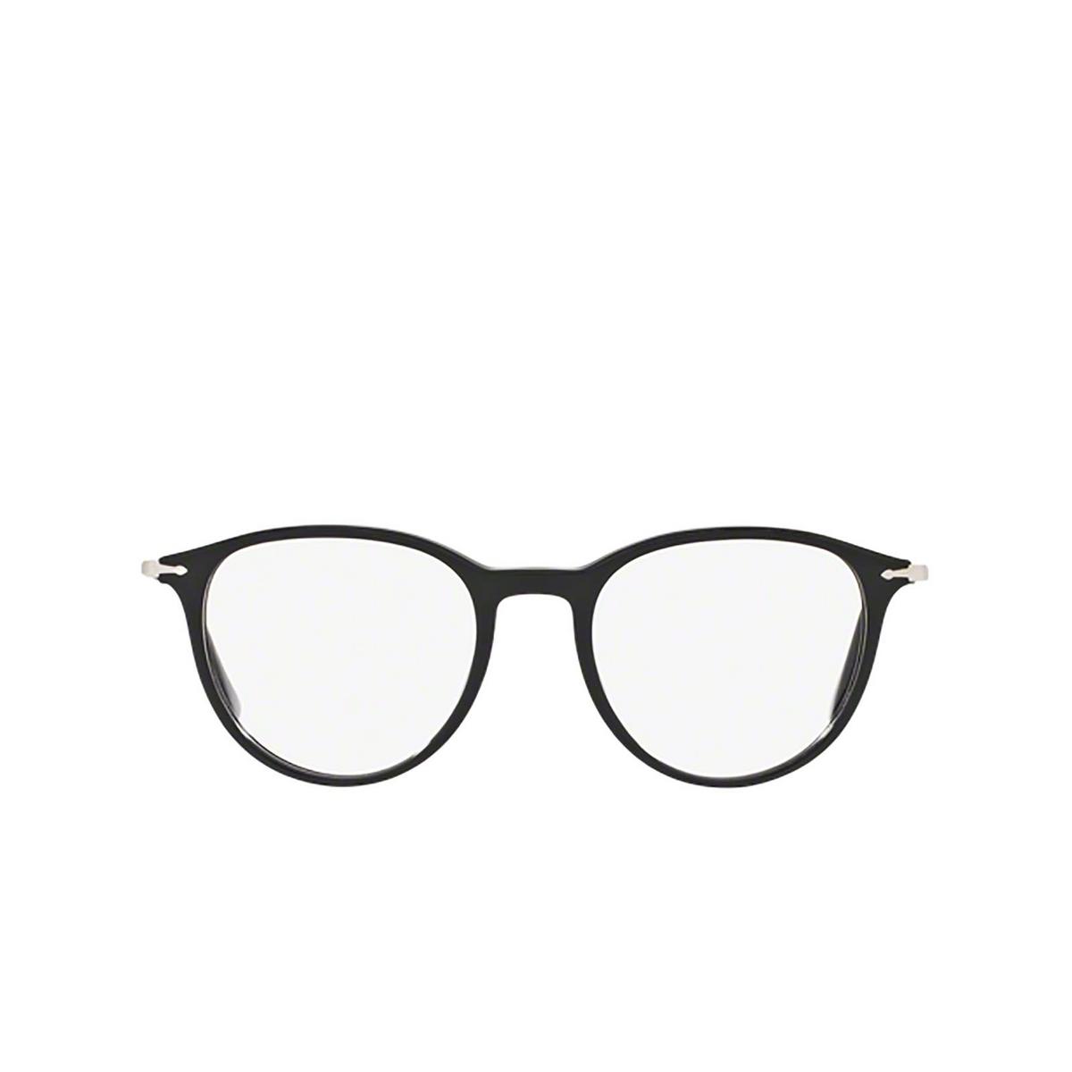 Persol® Rectangle Eyeglasses: PO3147V color Black 95 - front view.