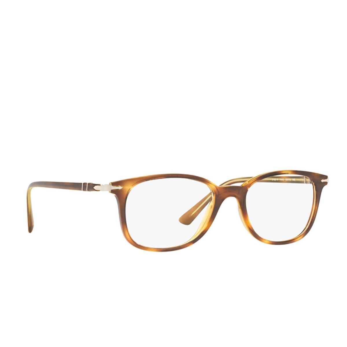 Persol® Rectangle Eyeglasses: PO3183V color Havana 1043 - three-quarters view.