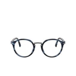 Persol® Eyeglasses: PO3185V color Striped Blue & Gunmetal 1111.