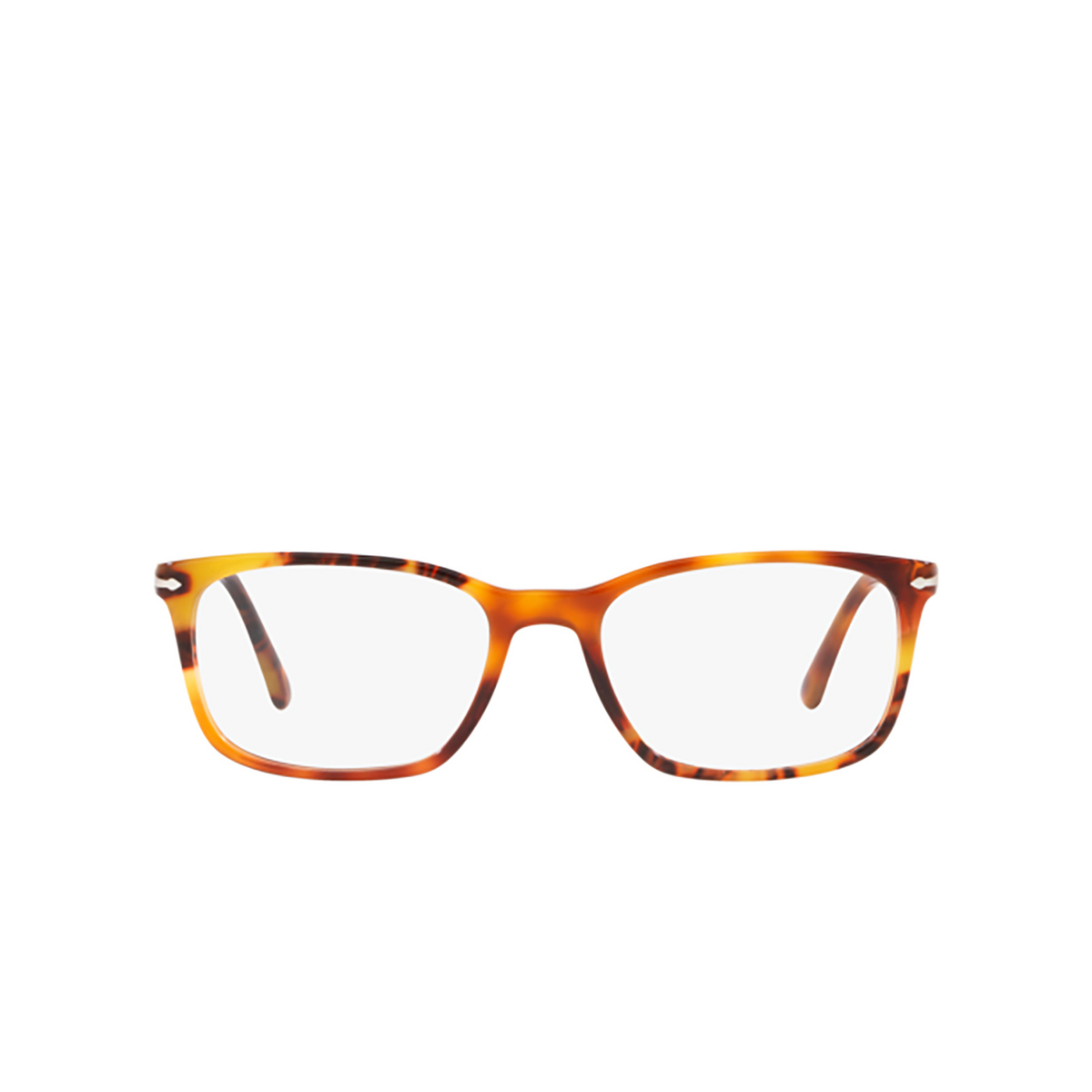 Persol® Square Eyeglasses: PO3189V color Brown Tortoise 1082 - front view.