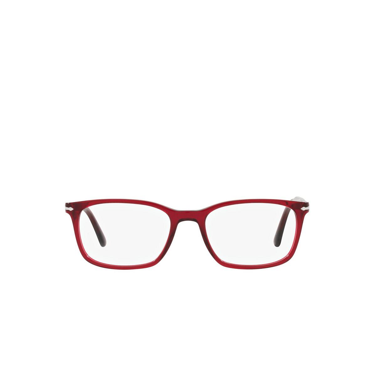 Persol® Rectangle Eyeglasses: PO3189V color Transparent Red 126 - front view.