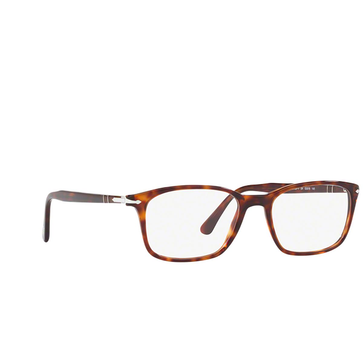 Persol® Square Eyeglasses: PO3189V color Havana 24.