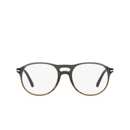 Persol® Eyeglasses: PO3202V color Gradient Grey Stripped Green 1012.