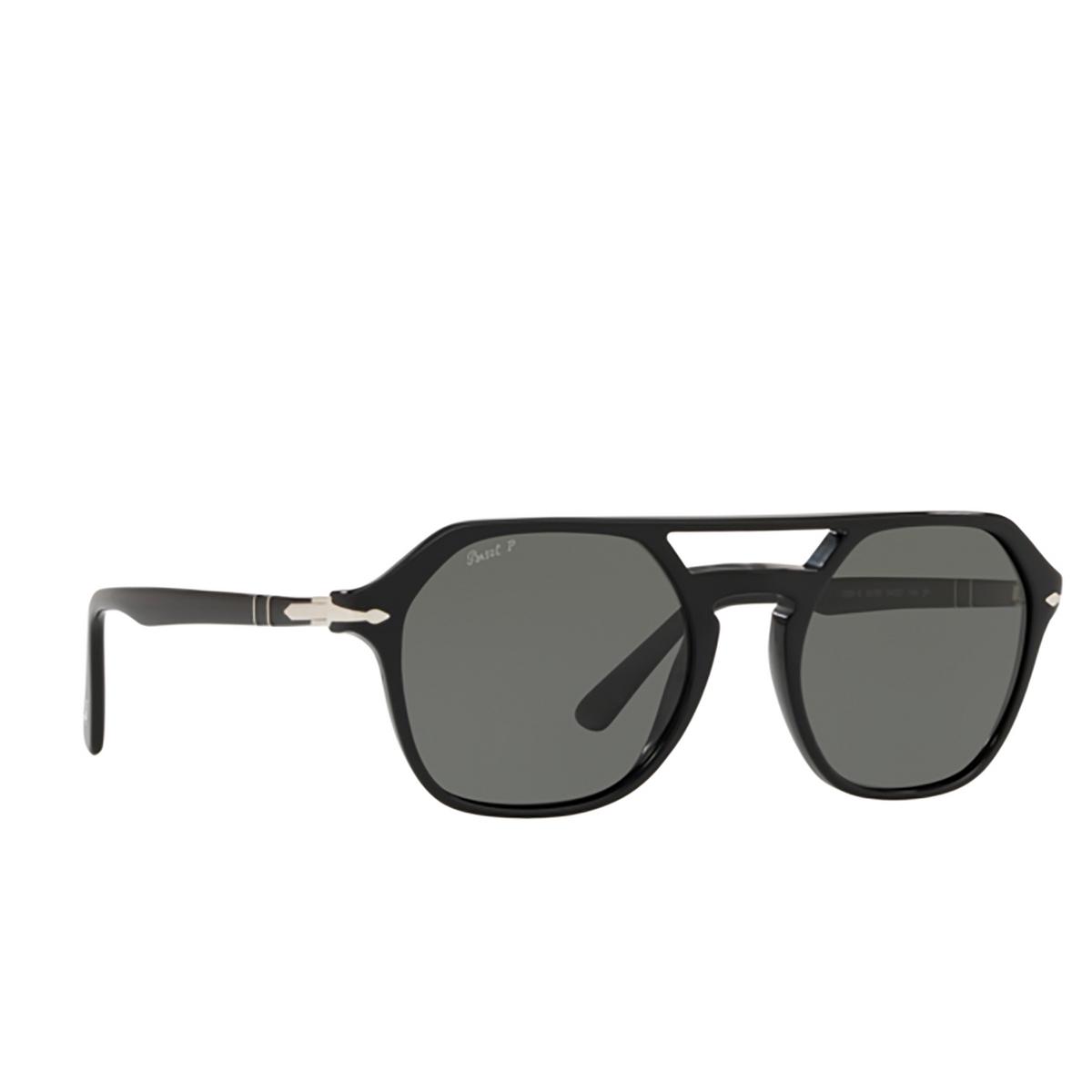 Persol® Irregular Sunglasses: PO3206S color Black 95/58 - 2/3.