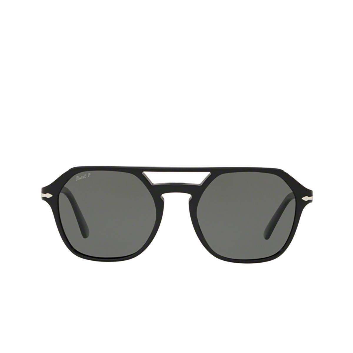 Persol® Irregular Sunglasses: PO3206S color Black 95/58 - 1/3.