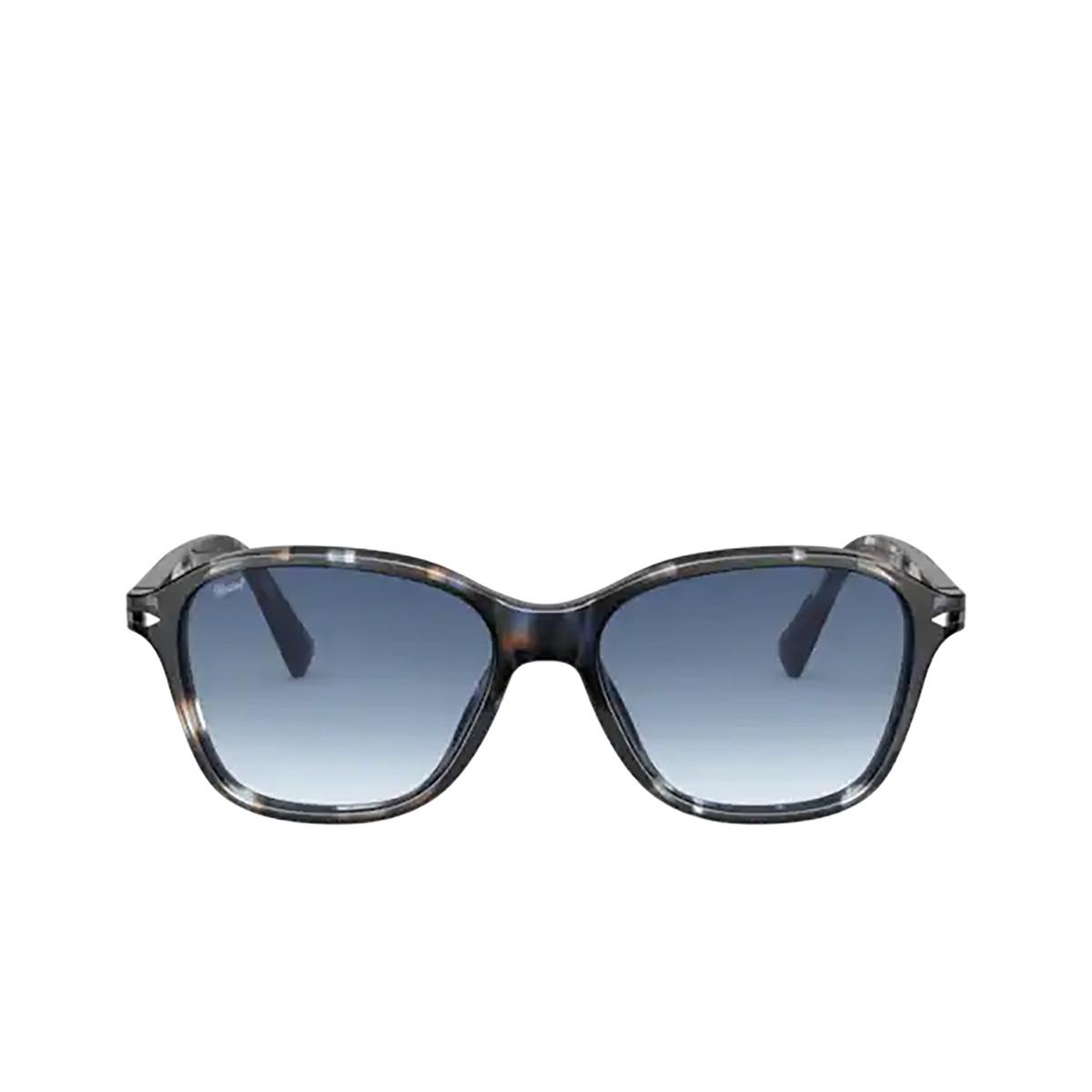 Persol® Square Sunglasses: PO3244S color Striped Blue & Grey 112632 - front view.