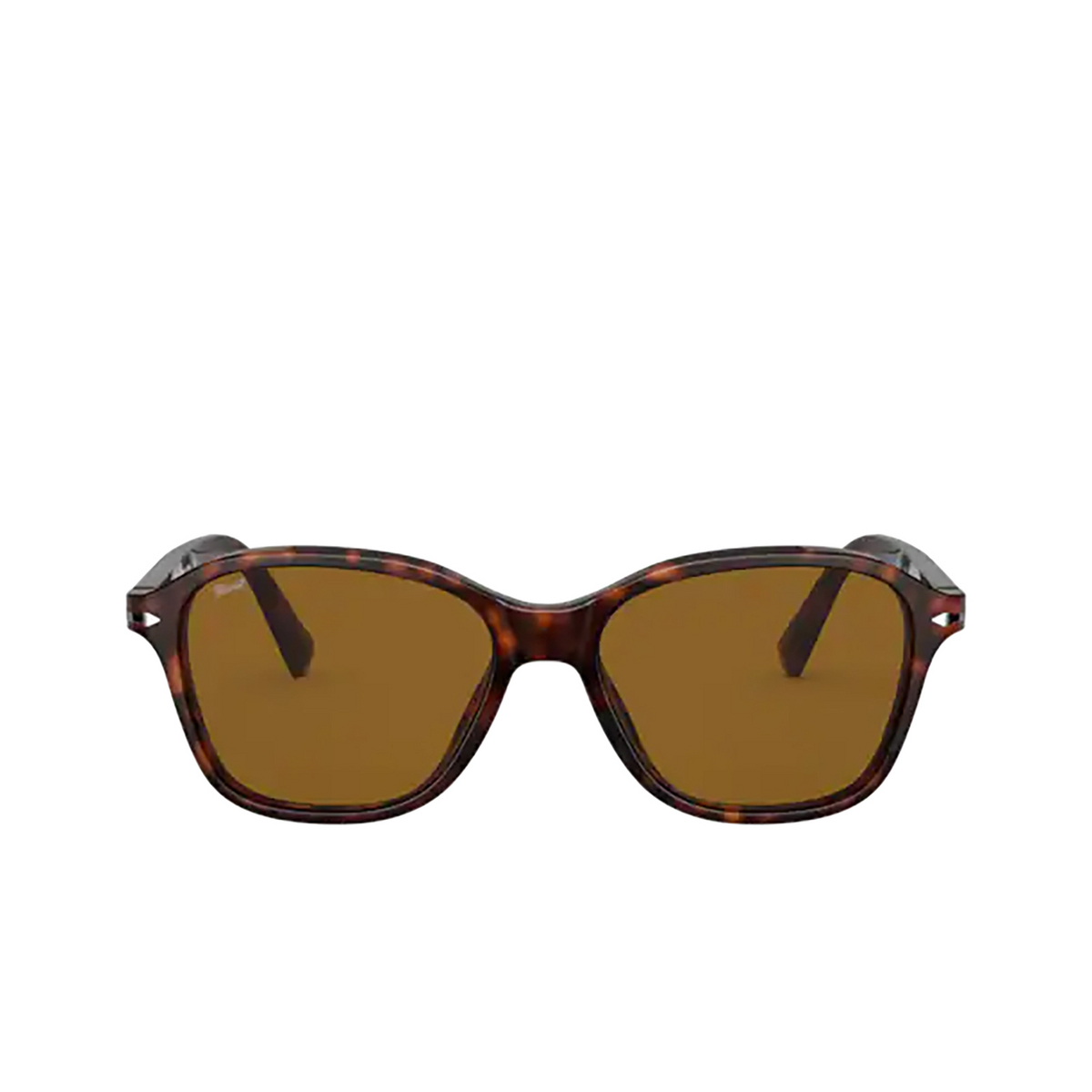 Persol® Square Sunglasses: PO3244S color Havana 24/33 - front view.