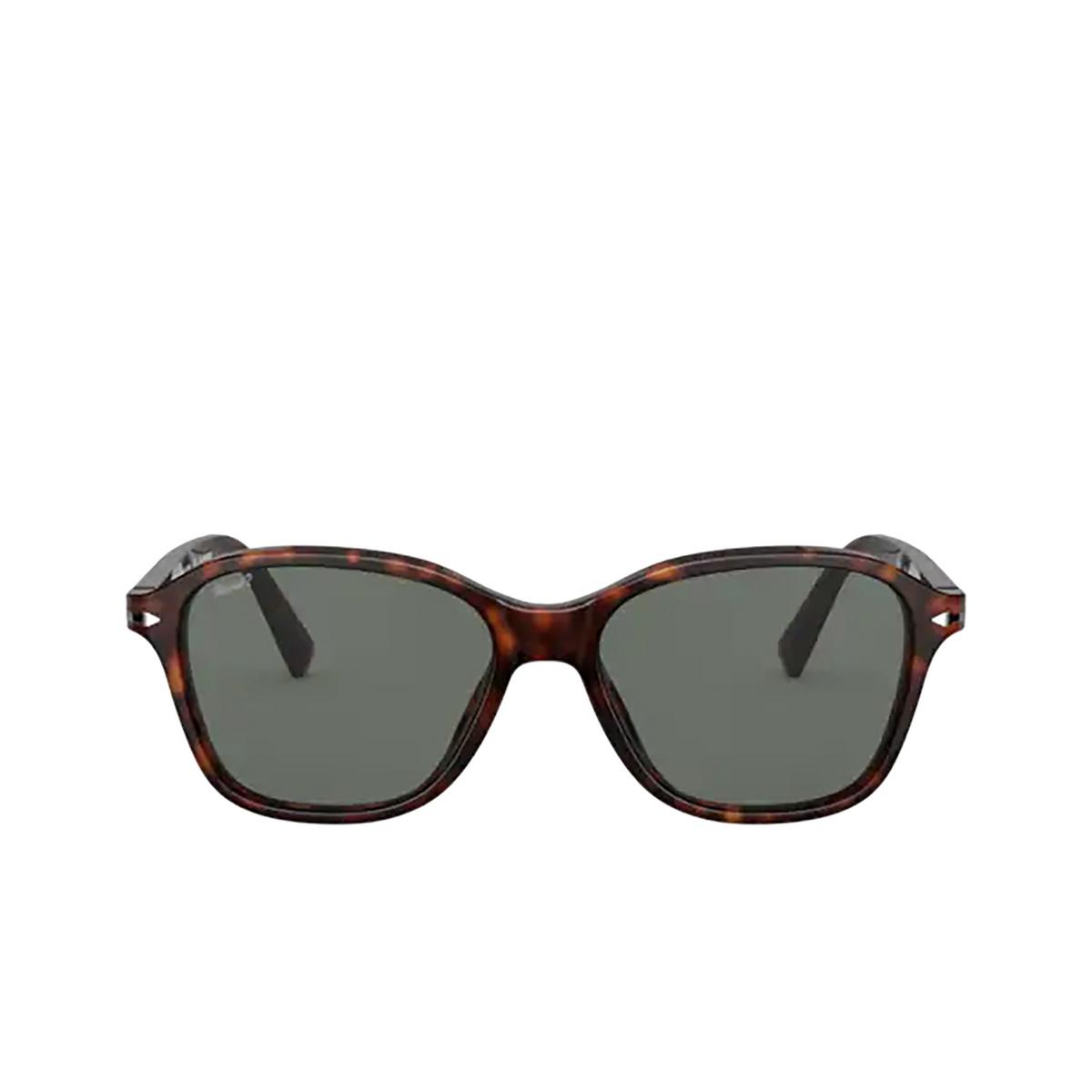 Persol® Square Sunglasses: PO3244S color Havana 24/58 - front view.