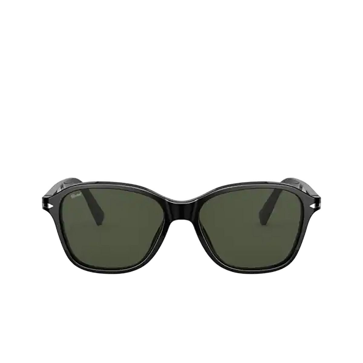 Persol® Square Sunglasses: PO3244S color Black 95/31 - front view.