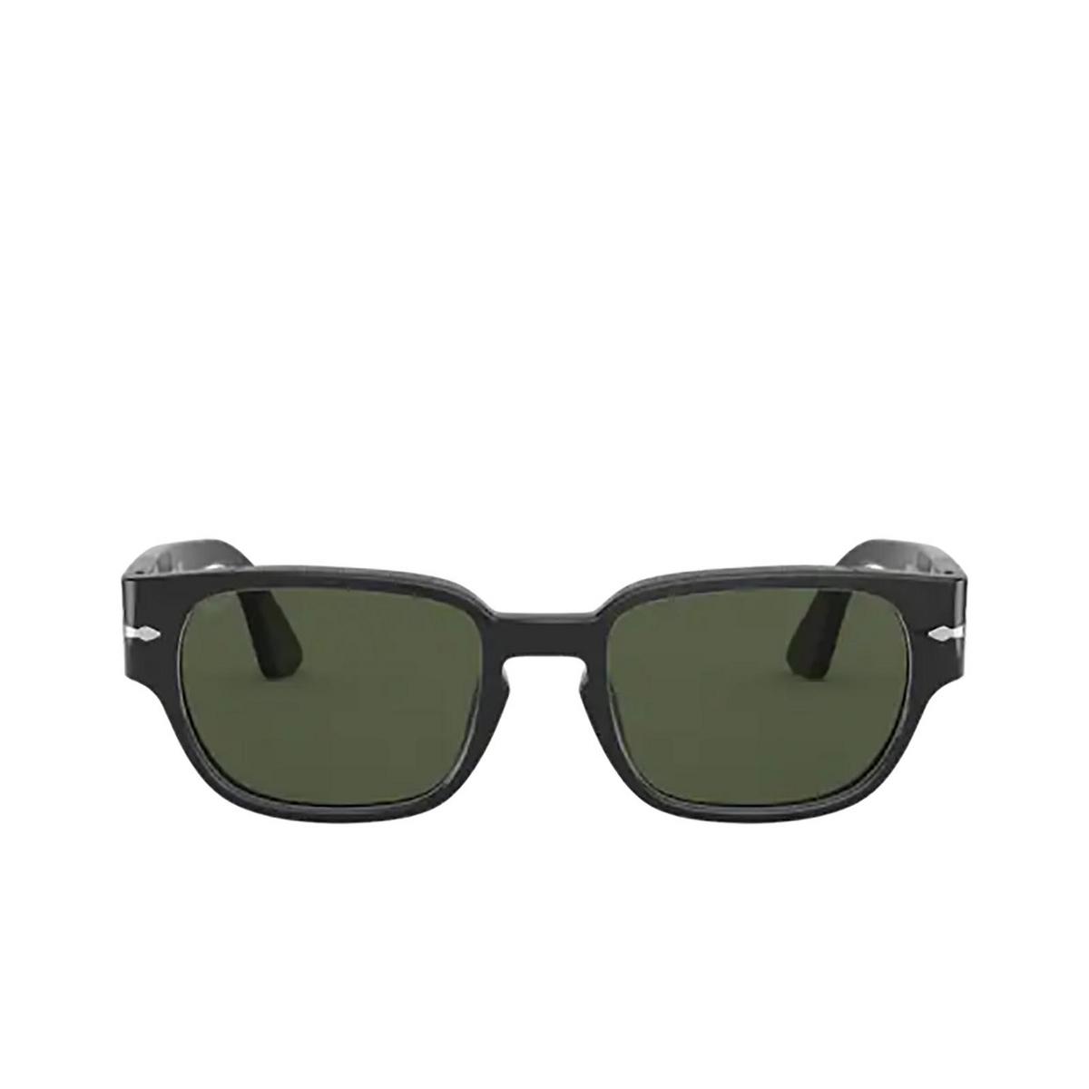 Persol® Irregular Sunglasses: PO3245S color Black 95/31 - front view.